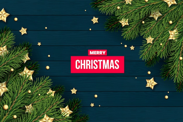 realistic christmas tree background 23 2148724657