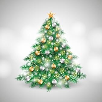 Realistic christmas tree concept
