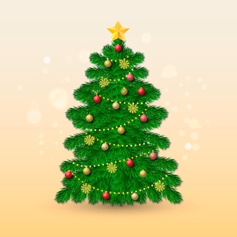 Реалистичная концепция рождественской елки