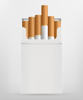 Realistic cigarette, stages of burn