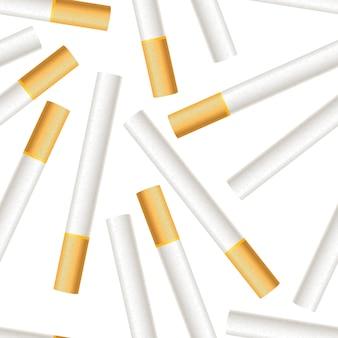 Realistic cigarettes pattern