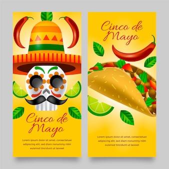 Реалистичные баннеры синко де майо