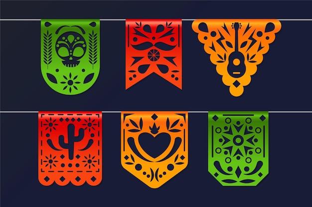 Realistic cinco de mayo mexican decoration