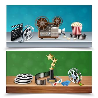 Set di banner cinema realistico