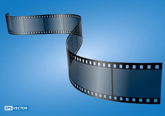 현실적인 시네마 클래퍼 보드 절연 또는 필름 스트립 시네마 35mm 유형