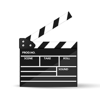 Realistic cinema clapperboard