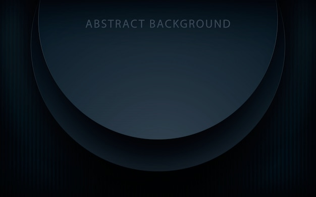 Realistic circle black overlap layers background