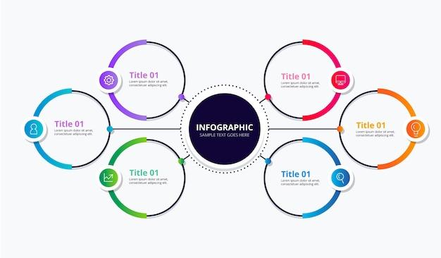 Realistico diagramma circolare infografica