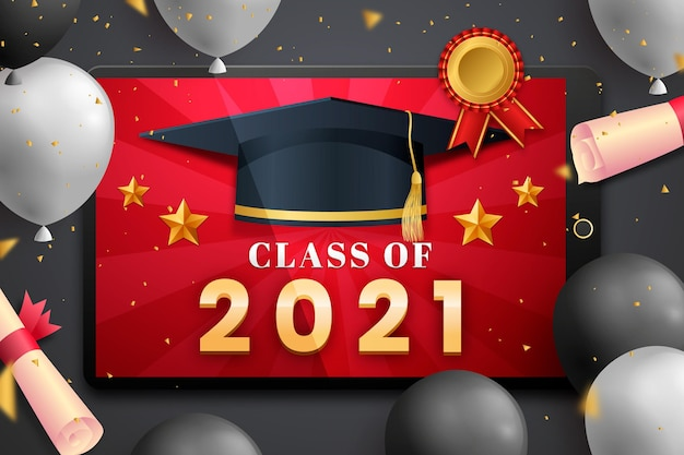 Realistic class of 2021 background