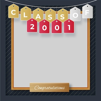 Realistic class of 2021 frame template
