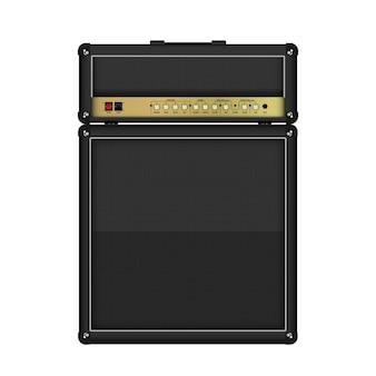 Realistic classic guitar amplifier head and cabinet Premium Vector
