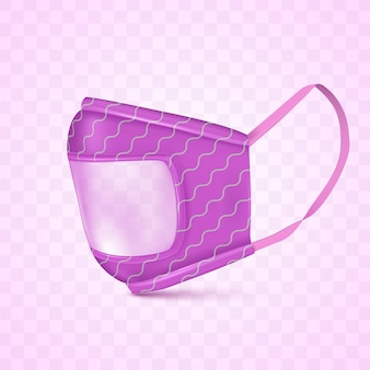Maschera trasparente realistica per non udenti