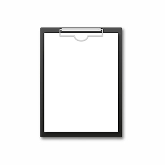 Realistic clipboard with blank sheet