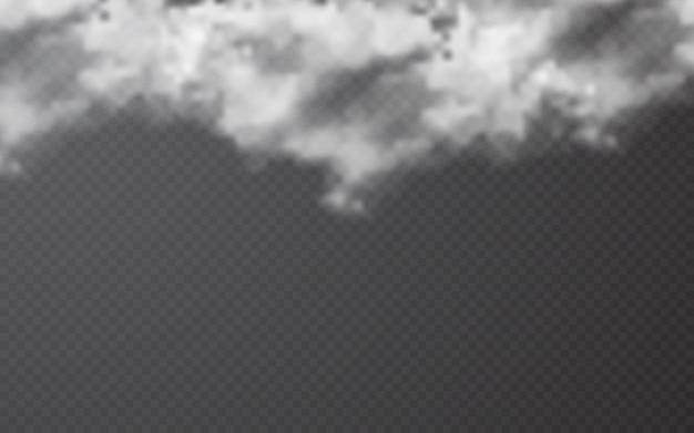透明な背景にリアルな雲
