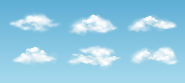 Realistic cloud in the sky collection