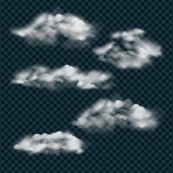 Collezione di nuvole realistiche nel cielo