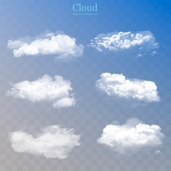 Realistic clouds collection.