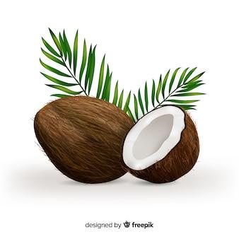 Реалистичный кокосовый фон