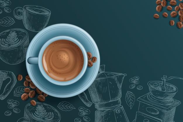 Реалистичный кофейный фон