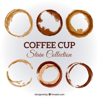 Реалистичная коллекция пятен на кофейной чашке