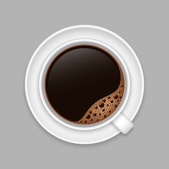 Реалистичная кофейная чашка