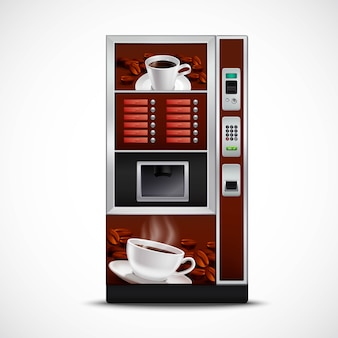 Realistic coffee vending machine