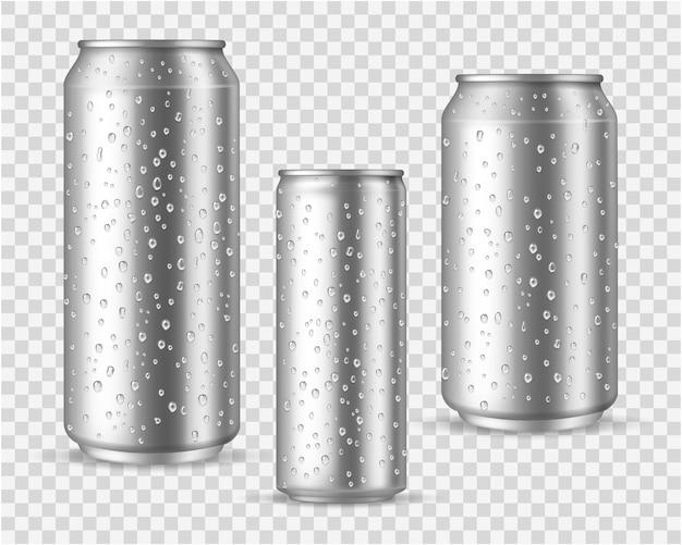 液滴のあるリアルなコールド缶