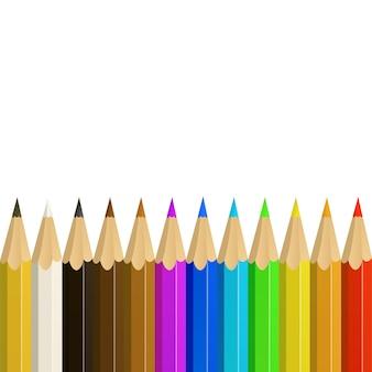 パターンまたは背景としてのリアルな色鉛筆。ベクトルイラスト。