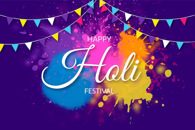 현실적인 다채로운 holi gulal