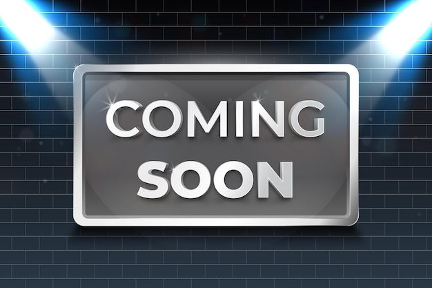 Realistic coming soon background
