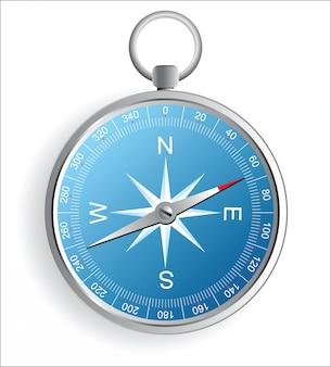 Realistic compass icon