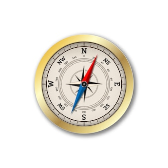 Realistic compass isolated
