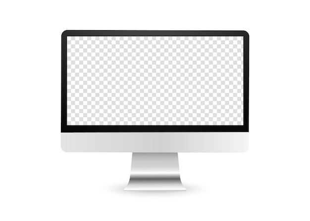 Realistic computer display with transparent screen