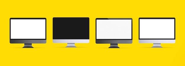 Realistic computer monitor illustration