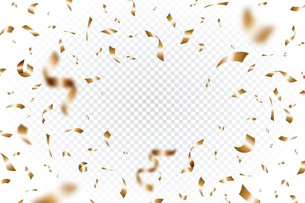 Realistic confetti background
