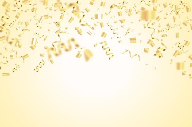 リアルな紙吹雪の誕生日の背景