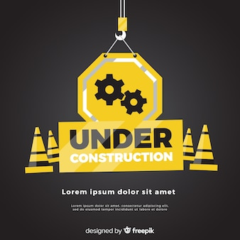 Realistic under construction sign background