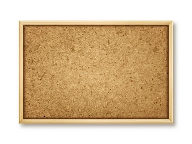 Realistic cork board on the wall