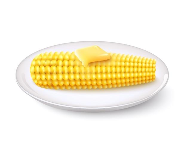 Realistic corn cob