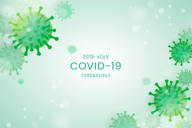 Realistic coronavirus background
