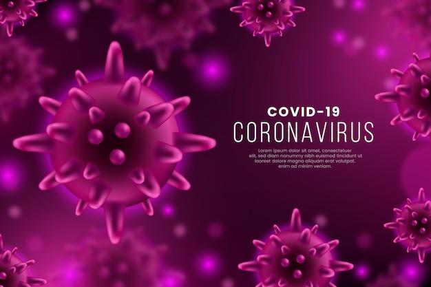 Realistic coronavirus background