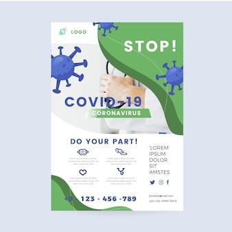 Sfondo realistico di coronavirus