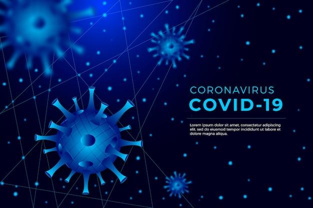Realistic coronavirus concept