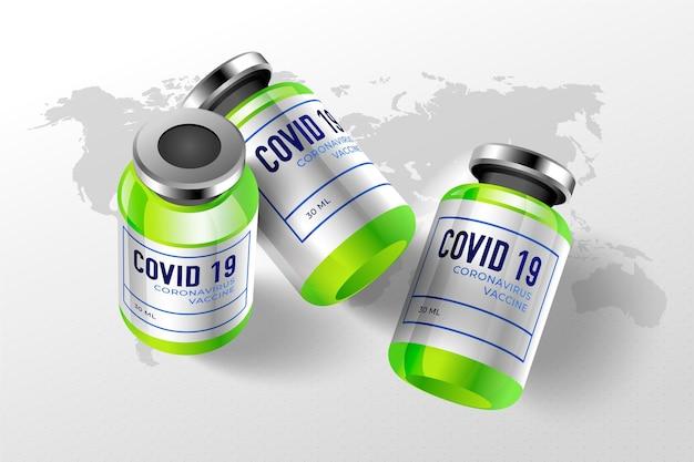 Sfondo realistico del vaccino contro il coronavirus