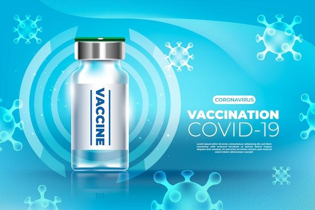 Carta da parati realistica del vaccino contro il coronavirus