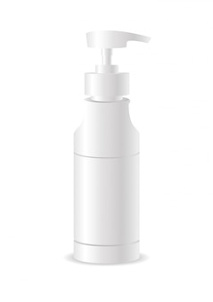 Realistic cosmetic bottle can