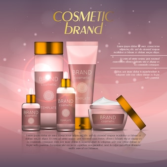 Realistic cosmetic product template