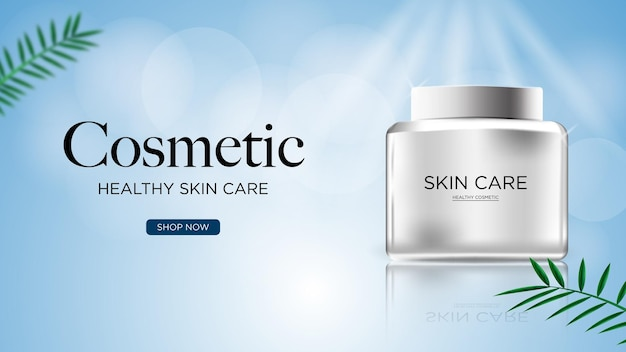 Realistic cosmetic or skin care ad