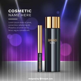 Realistic cosmetics background