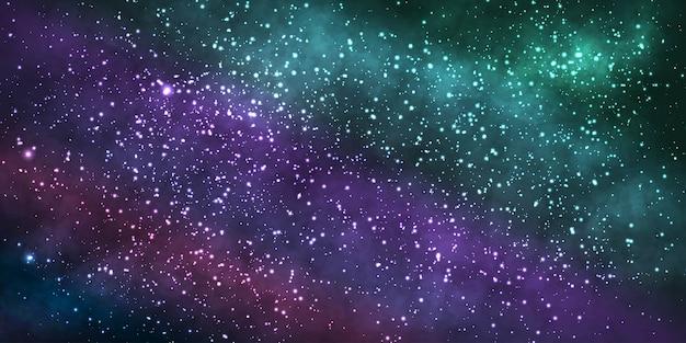 Реалистичная космическая галактика